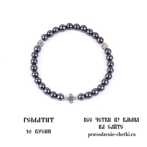 Православные четки из Гематита на 30 зерен (круг)