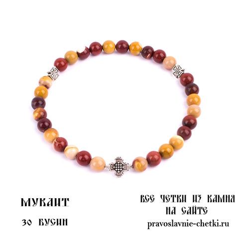 Православные четки из Мукаита на 30 зерен (в форме круга) d=8 (фото)