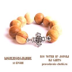 Православные четки из можжевельника на 10 зерен (перстные)